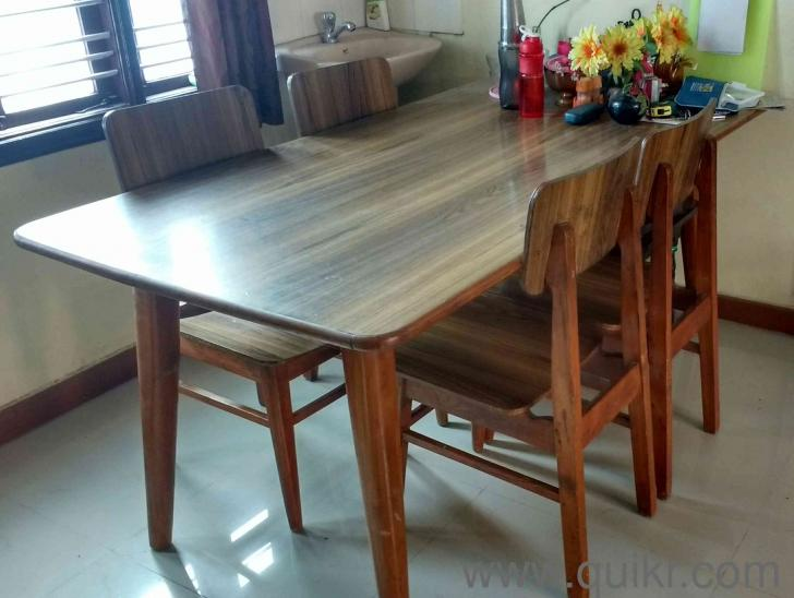 6 Seater Teakwood Dining Table Available For Sale At An Economical