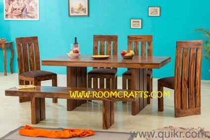 PREMIUM Sheesham Wood Home Furniture Dining Sets Online Stores Bangalore Table Chairs Jodhpur Handicraft