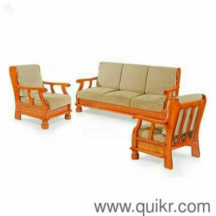 Premium Quality Solid Wooden Sofa Set Emi Facility Brand Home Office Furniture Karyavattom