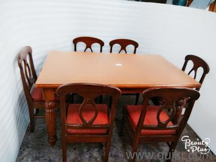 Quikr Certified Good Condition Brand Sheesham Wood 6 Chairs Dining Table For Sale