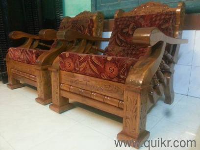 custom made genuine mysore teakwood wooden sofa set with ...