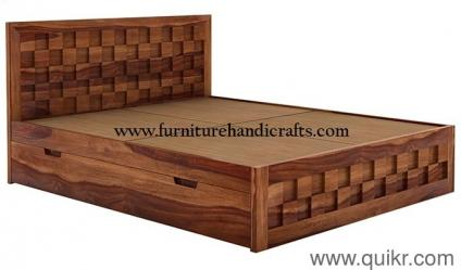 Wooden Furniture M 9571050196 Storage Double Bed Cot