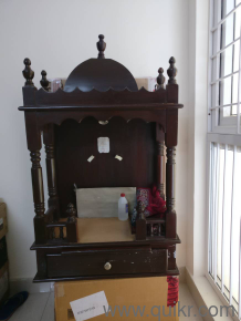 wood pooja mandir | Used Home - Office Furniture in Kolkata | Home ...