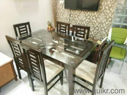 8. Tampered Glass And 6 Chairs Dining Table Bought ...