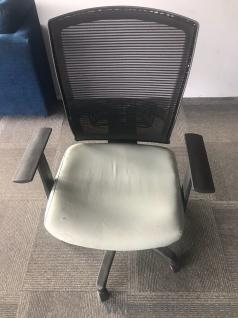 color office chairs. 4. Gently Used Light Blue With Black Color Office Chair Chairs