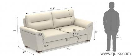 Adelaide Sofa 3 Seater   Brand Home   Office Furniture   Hyderabad ...