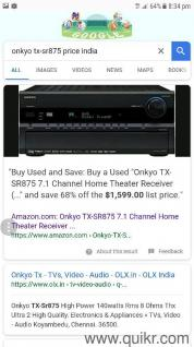ONKYO  Tx-sr 875  7 1 CHANNEL  per channel 140  wats rms  HDMI  MASTER  AUDIO  with original remote   SPARINGLY USED  good condition  price is   25000