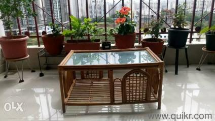 Beautiful cane bamboo tepoy side table best suited as both indoor ...