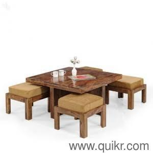 Brand New Seater Sheesham Wood Coffee Table With Chairs For Sale - Coffee table with 4 chairs