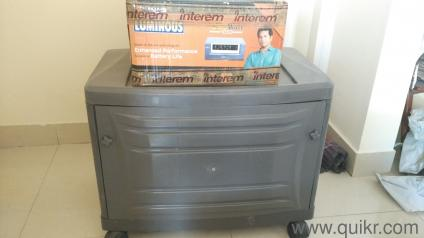 15 Yr Old Luminous Inverter With Luminous Battery And Trolley In Good Condition And Warrenty
