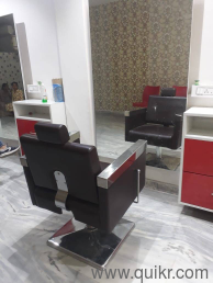 We have 3 chairs of hair cut each one chair cost is 12000
