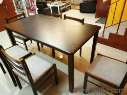 Premium 6 Seater Dinning Table Fab Home Carolina Engineered Wood Particle Board Call