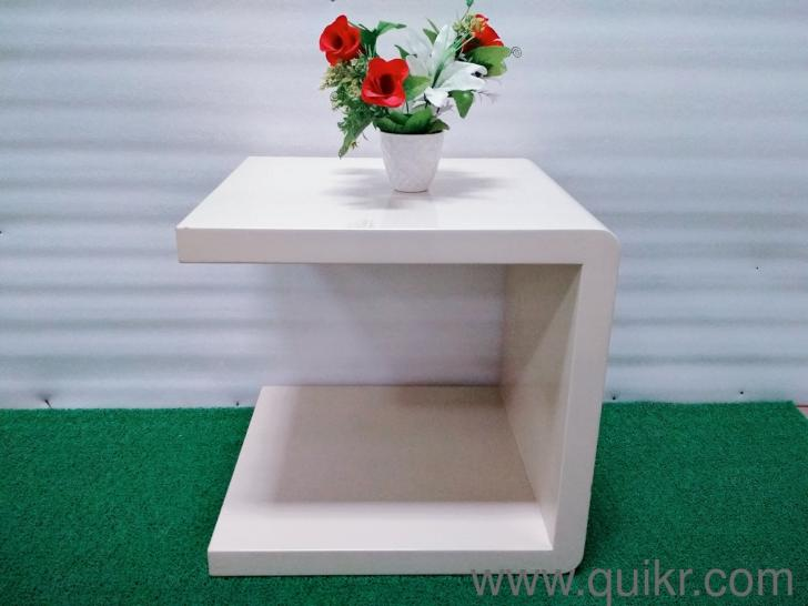 Bed Side Table Made Of MDF Color White For Sale