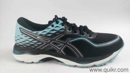 4fae980d6b3409 ASICS Women s Gel-Cumulus 19 Black Porcelain Blue White Running Shoes-9