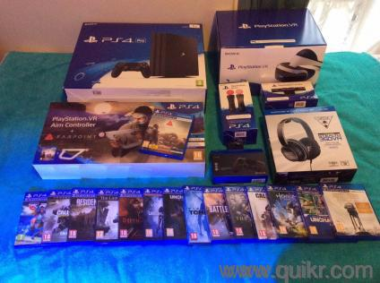My ps4 + vr set,head set and 12 games list for sale