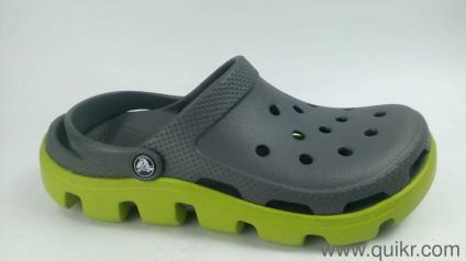d6b70683db36 Crocs Unisex Duet Sport Graphite and Volt Green Rubber Clogs and Mules -  M9 W11