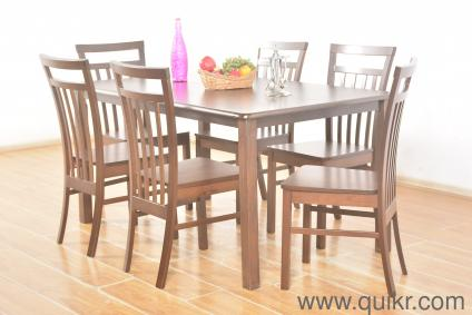 Lombardy Solid 6 Seater Dining Table Set