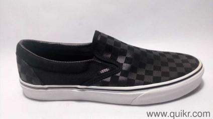 Vans Unisex Classic Slip-On Checkerboard and Black Loafers and Moccasins -  11 UK  72eba9776