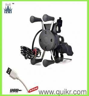 IZKI Mobile Charger with Motorcycle Bicycle Bike Mount Phone Holder