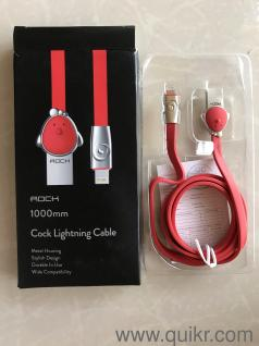 ROCK Zinc Alloy Mascot USB Cable for iPhone X 8 7 6 6s Plus 5s SE, Dog LED  Light USB Cable for Mobile Phone Cable for iPhone X