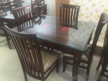 Stupendous Glass Top 4 Seater Dining Set Teak Finish Download Free Architecture Designs Scobabritishbridgeorg