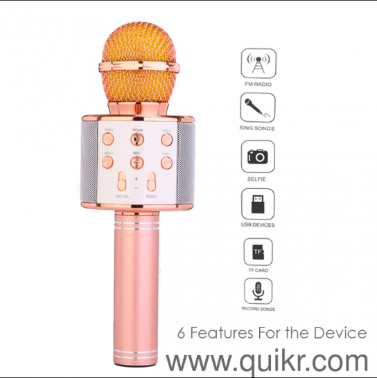 New WS-858 Wireless Bluetooth Microphone Recording :|: Speakers