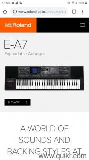 ROLAND EA 7 unused with bill and soft case