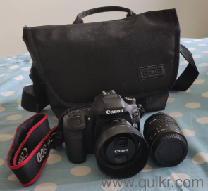 Canon 80D with 2 lens - EFS 18-55mm & Canon 50mm f1 8 Lens Full kit  available with original invoice, charger ,battery, Canon bag,USB cable,lens