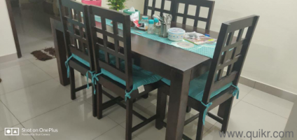 6 seater solid wood dinning table at mere 20k