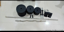 Brand new gym fitness kit- 40 Kg PVC WEIGHT (2kg x 4 plates + 3kgx4plates +  5kgx4plates )with rods