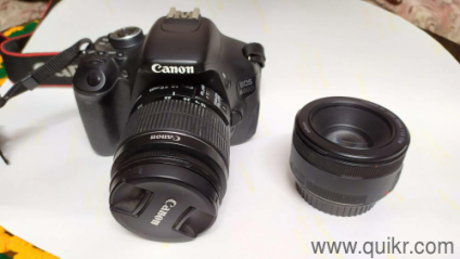 Canon 600D with 18-55mm zoom & 50mm potrait lens