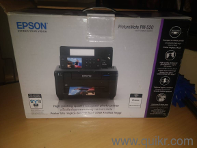 EPSON PICTURE MATE PM-520 PHOTO PRINTER With 3 new cartridges and 3 box  glossy photo sheets