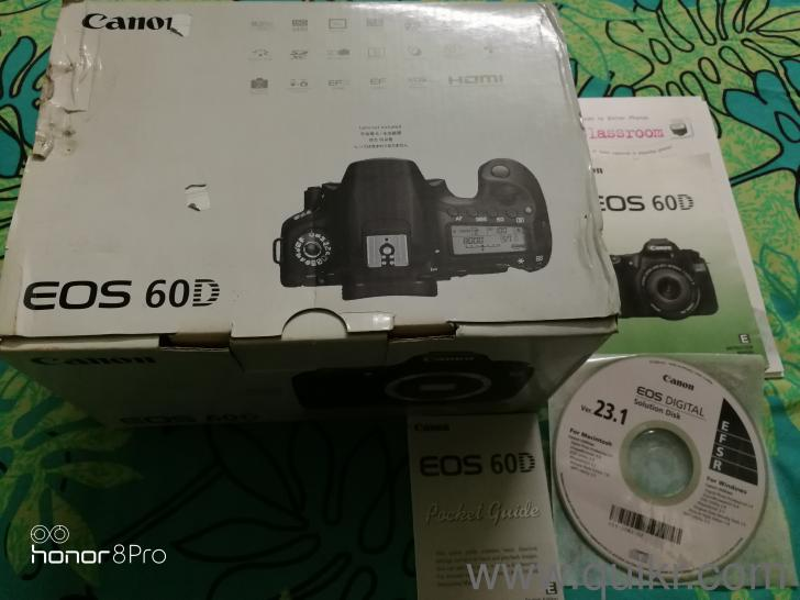Canon EOS 60D DSLR camera (Make: Japan) with Canon EF-S 18