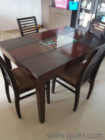 4 Seater Dining Table Set Gently Home Office Furniture Thane Quikrgoods