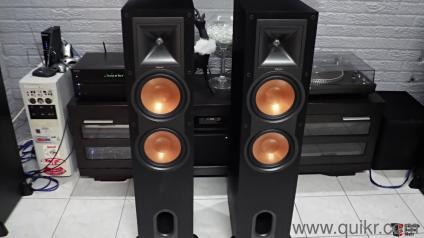 klipsch used speakers. premium klipsch r28f reference series floor standing speaker pair (black) used speakers