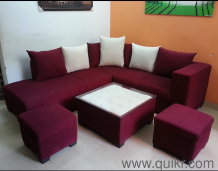 GOLD AD Call Whats app  9718080807  Sofa Set 6 Seater 2 Ottoman   Center  Table. Home   Office Furniture Online in Delhi   SecondHand   Used Home