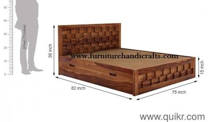 Zoom  sc 1 st  Quikr & Solid wooden furniture(M) storage double bed - Brand Home - Office ...