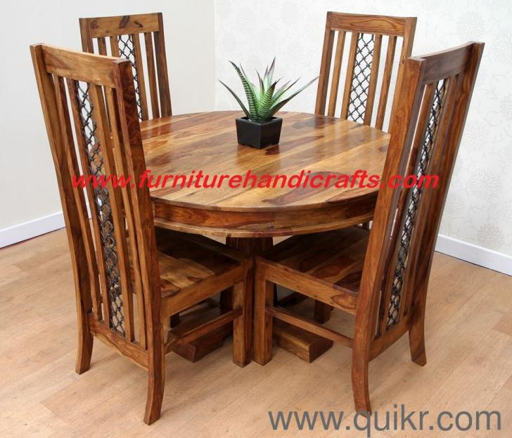 Wooden furniture m four seater dining set