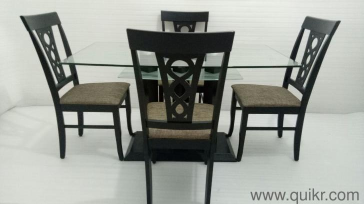 Glass Top 4 Seater Dining Table Home Furniture For Sale