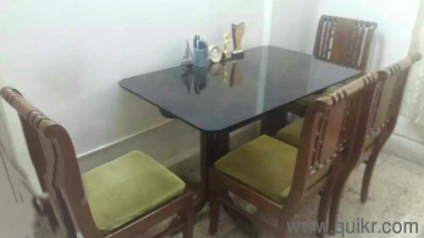 PREMIUM URGENT SALE Glass Top Dining Set In Good Condition