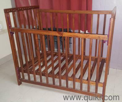 Wudplay Clover Teak Wood Econo Sliding Rail Crib Sofa Gently Baby