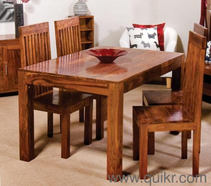 4 Seater Brand New Solid Sheesham Wood Dining Table Set For