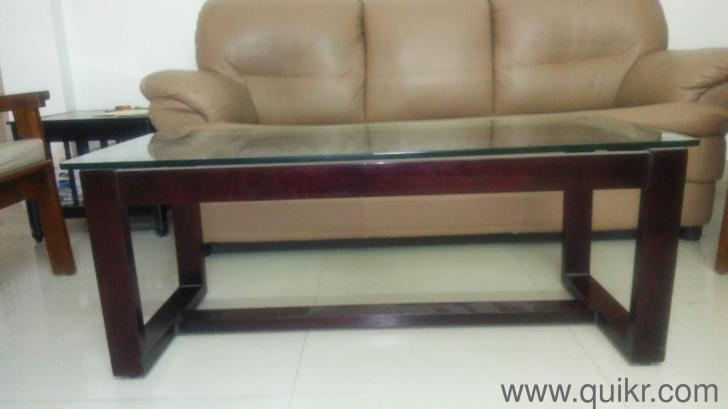 Wooden Centre Table With Glass Top :|: Center Tables   Almost Home   Office  Furniture   Chennai | QuikrGoods