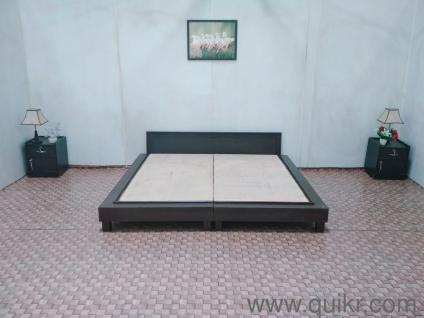 King Low Height Bed Without Storage Engineered Wood Ply Colour Dark Walnut Fixed Price