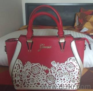 Guess Red Handbag Moving Bling Edition Gently Used Handbags