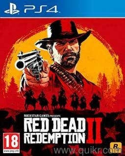 RED DEAD REDEMPTION 2 PLAYSTATION 4 PS4 GAME PREOWNED USED ONLY FOR 4 DAYS  LIKE BRAND NEW, BOUGHT FROM AMAZON INDIA, COMES WITH BOX AND MANUALS