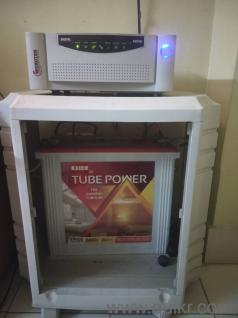 Microtek inverter with Exide battery and casing  2 year old