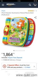 VTech nursery rhyme music book + 2 Fisher Price toys