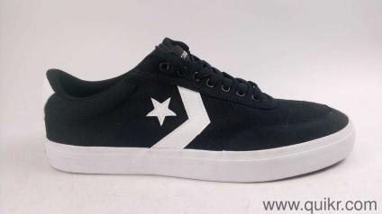 Converse Unisex White Black Sneakers-11 UK India (45 EU) with de2eec3a0