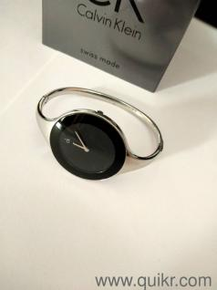 Calvin Klein Watch 4 Yrs Old Silver Color Black Dial
